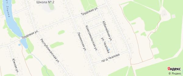 Комсомольская улица на карте Злынки с номерами домов