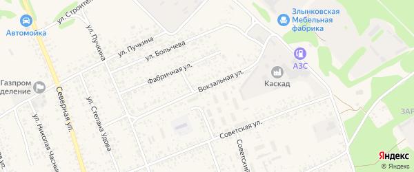 Вокзальная улица на карте Злынки с номерами домов