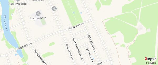 Первомайская улица на карте Злынки с номерами домов