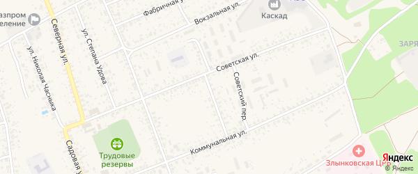 Коммунальный переулок на карте Злынки с номерами домов