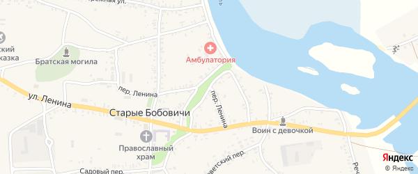 Переулок Ленина на карте села Старых Бобовичей с номерами домов