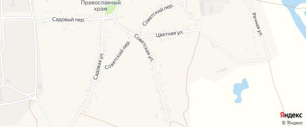 Советская улица на карте села Старых Бобовичей с номерами домов