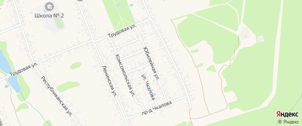 Юбилейная улица на карте Злынки с номерами домов
