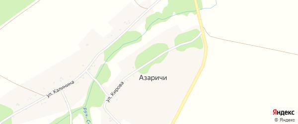 Улица Кирова на карте села Азаричи с номерами домов