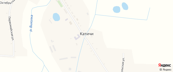 Школьная улица на карте села Катичи с номерами домов