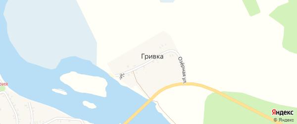 Озерная улица на карте поселка Гривки с номерами домов