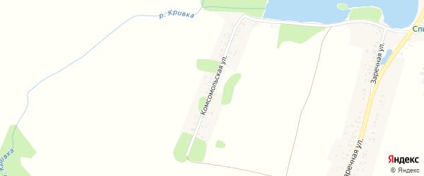 Комсомольская улица на карте села Спиридоновой Буды с номерами домов