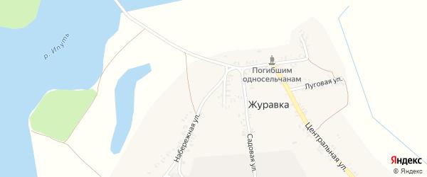 Набережная улица на карте деревни Журавки с номерами домов
