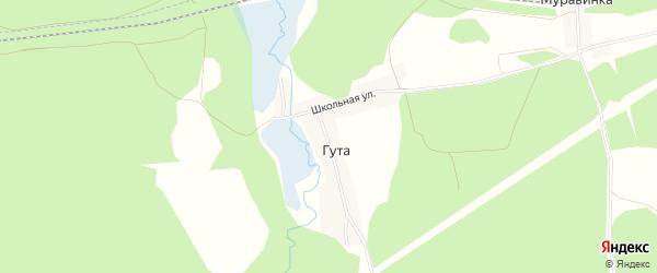 Карта деревни Гуты в Брянской области с улицами и номерами домов