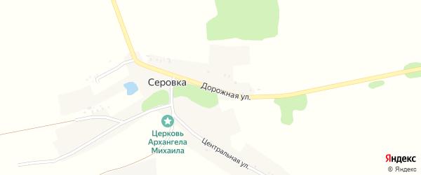 Дорожная улица на карте села Серовки с номерами домов