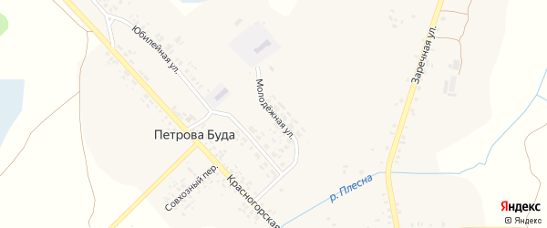 Молодежная улица на карте села Петровой Буды с номерами домов