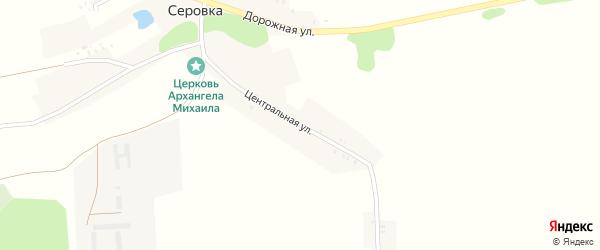 Центральная улица на карте села Серовки с номерами домов