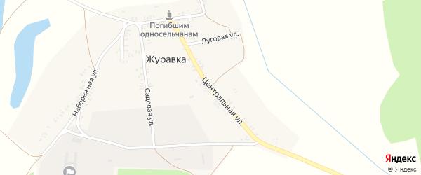 Центральная улица на карте деревни Журавки с номерами домов