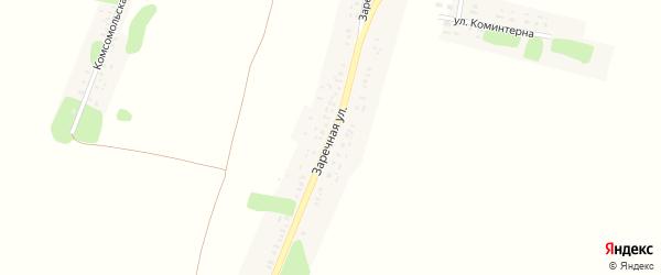 Заречная улица на карте села Спиридоновой Буды с номерами домов