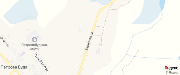Заречная улица на карте села Петровой Буды с номерами домов