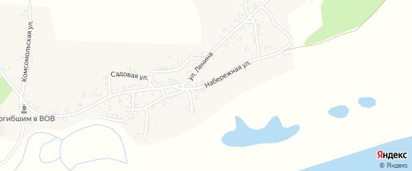 Набережная улица на карте села Катичи с номерами домов