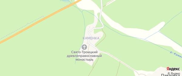 Поселок Каменка на карте Злынки с номерами домов