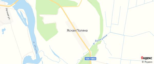 Карта поселка Ясной Поляны в Брянской области с улицами и номерами домов