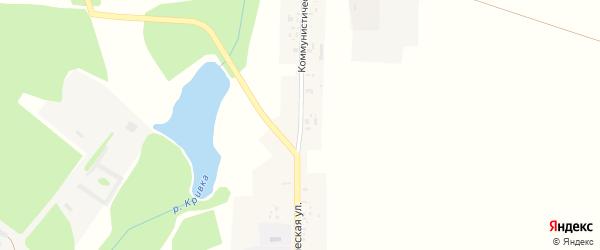 Коммунистическая улица на карте села Спиридоновой Буды с номерами домов