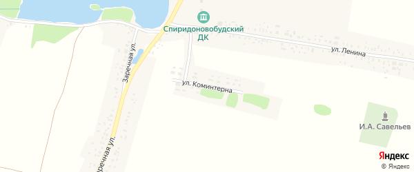 Улица Коминтерна на карте села Спиридоновой Буды с номерами домов