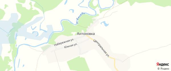 Карта деревни Антоновки в Брянской области с улицами и номерами домов
