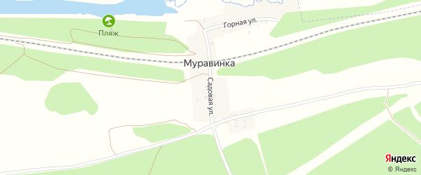 Садовая улица на карте деревни Муравинки с номерами домов