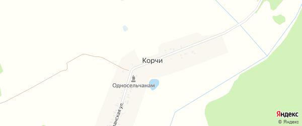 Партизанская улица на карте поселка Корчи с номерами домов