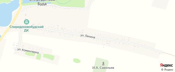 Улица Ленина на карте села Спиридоновой Буды с номерами домов