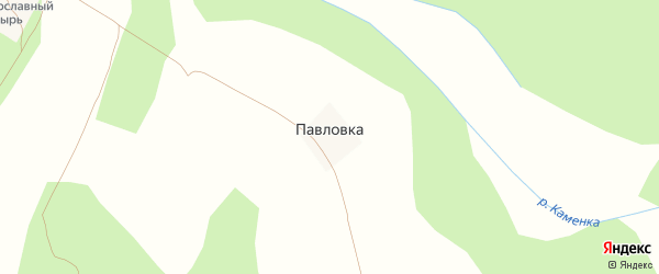 Поселок Павловка на карте Злынки с номерами домов