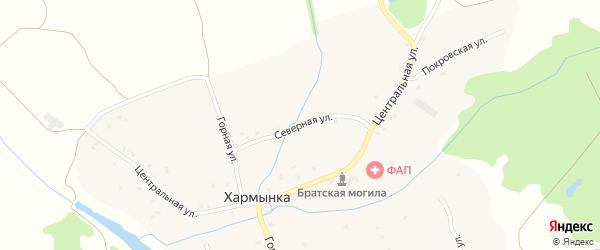 Северная улица на карте деревни Хармынки с номерами домов
