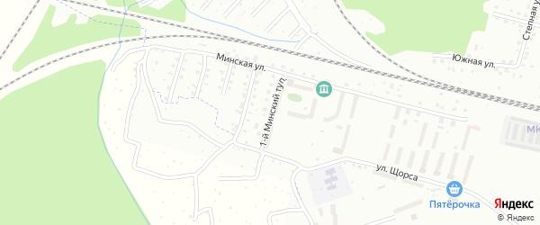 Минский 1-й тупик на карте Смоленска с номерами домов