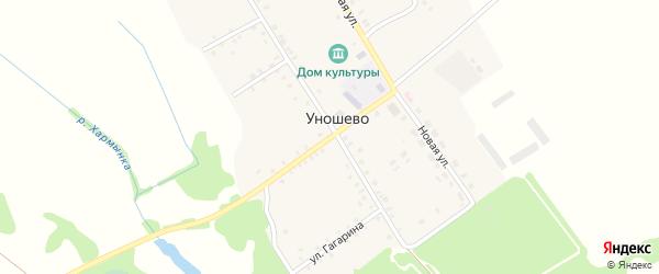 Красногорская улица на карте села Уношево с номерами домов