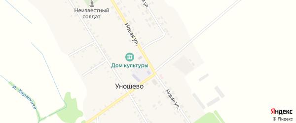 Новая улица на карте села Уношево с номерами домов