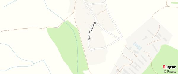 Песчаный переулок на карте села Нового Места с номерами домов