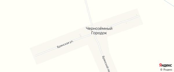 Брянская улица на карте поселка Черноземного Городка с номерами домов