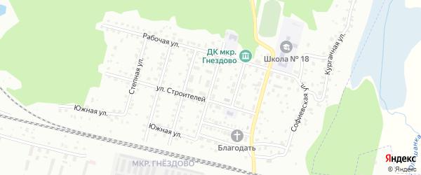 Фаянсовая улица на карте Смоленска с номерами домов