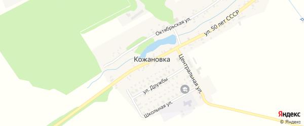 Центральная улица на карте деревни Кожановки с номерами домов