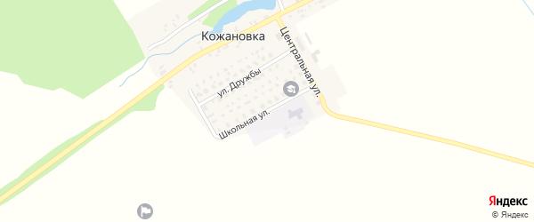 Школьная улица на карте деревни Кожановки с номерами домов