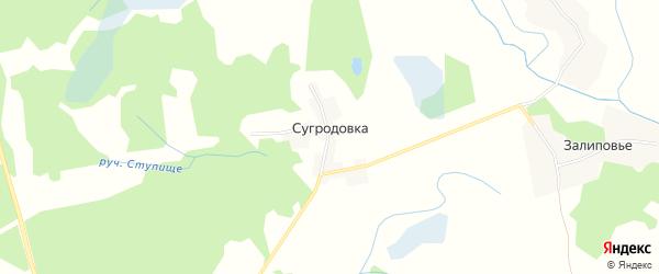 Карта поселка Сугродовки в Брянской области с улицами и номерами домов