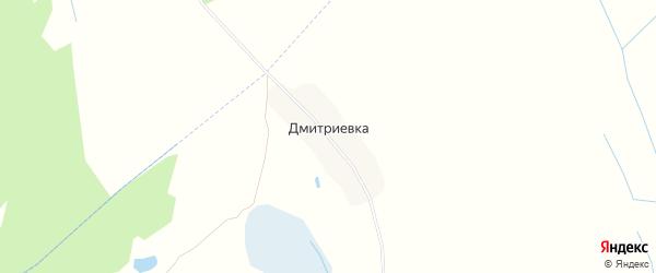 Карта деревни Дмитриевки в Брянской области с улицами и номерами домов
