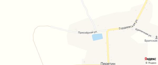 Приозерная улица на карте села Перетина с номерами домов