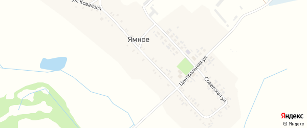 Улица Ковалева на карте деревни Ямного с номерами домов