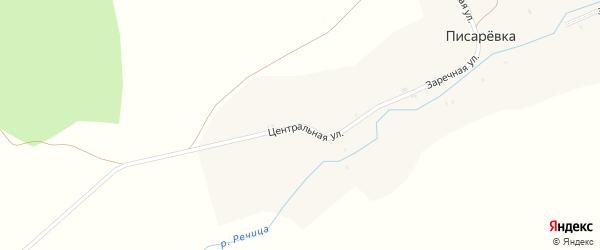 Центральная улица на карте поселка Писаревки с номерами домов