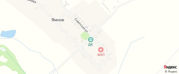 Центральная улица на карте деревни Ямного с номерами домов