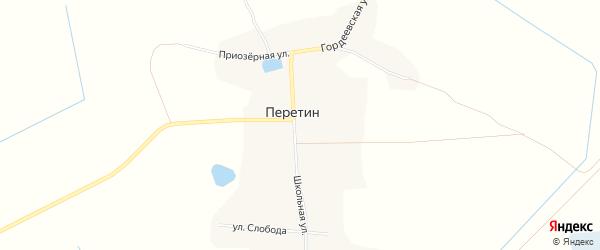 Карта села Перетина в Брянской области с улицами и номерами домов