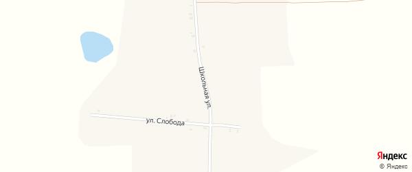 Школьная улица на карте села Перетина с номерами домов