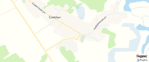 Карта села Смяльч в Брянской области с улицами и номерами домов