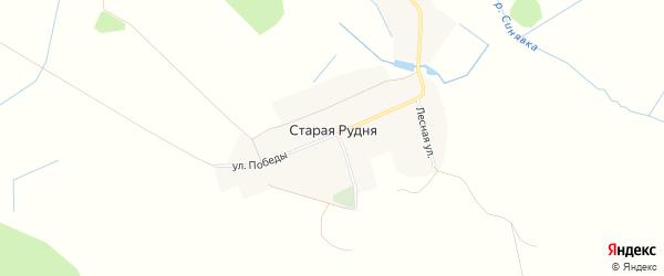 Карта деревни Старой Рудни в Брянской области с улицами и номерами домов