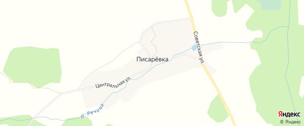 Карта поселка Писаревки в Брянской области с улицами и номерами домов