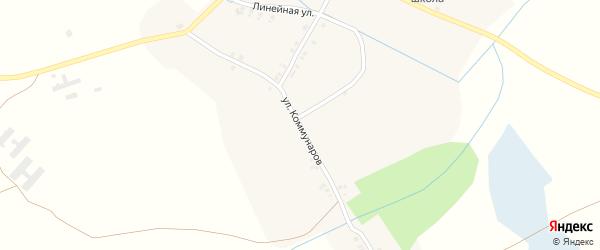 Улица Коммунаров на карте деревни Старая Полона с номерами домов